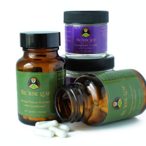 CBDa Hemp Flower Extract Capsules and Body Cream
