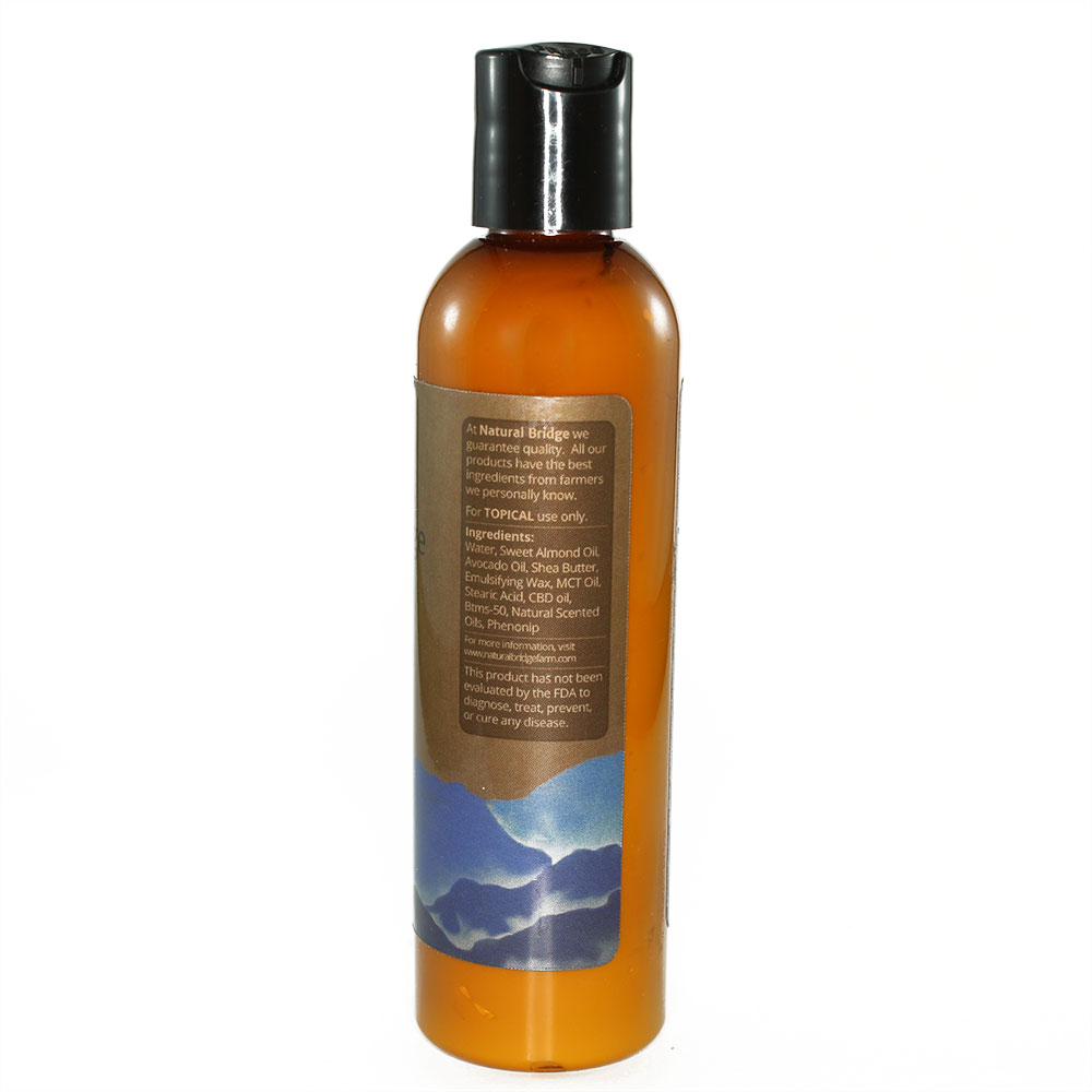 Natural Bridge Hemp Body Lotion Label