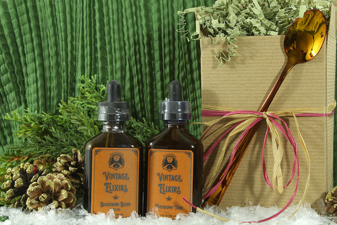 The Wise Leaf Blacksburg Blend CBD Oil and Touchdown Tonic CBD Extract