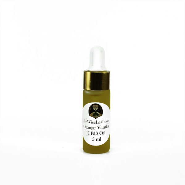 5ml Sample Full Spectrum Hemp Flower CBD Oil Orange-Vanilla